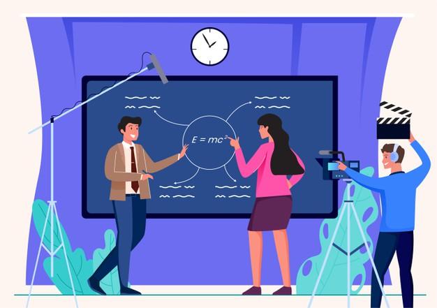 online learning live broadcast illustration 310941 34